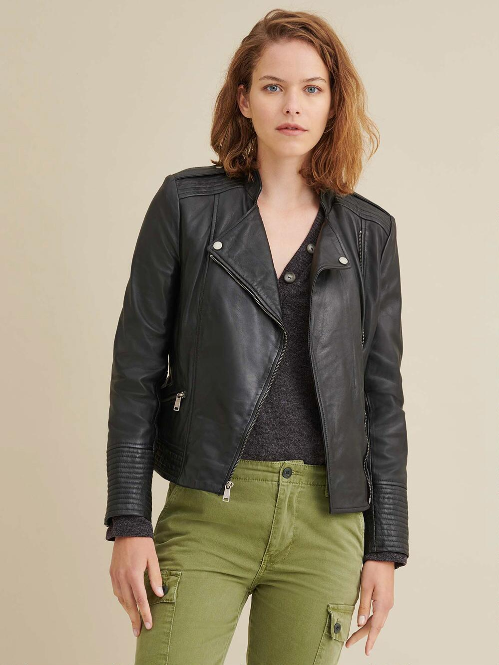 Asymmetrical Leather Jacket for Women