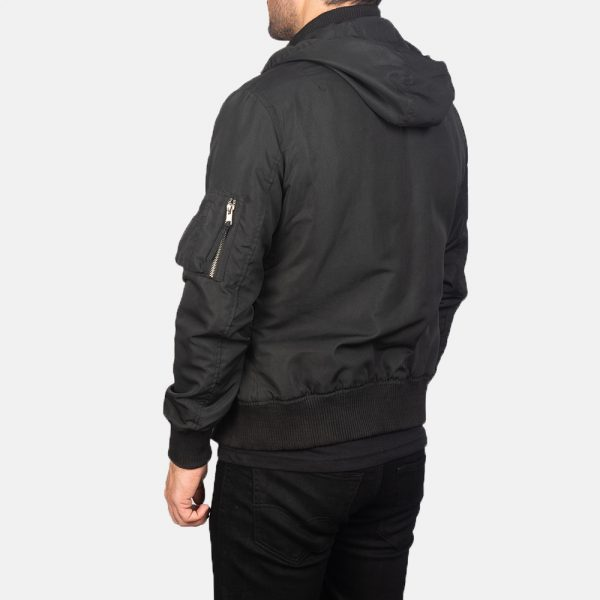 Best Hanklin Ma-1 Black Hooded Bomber Jacket for Men
