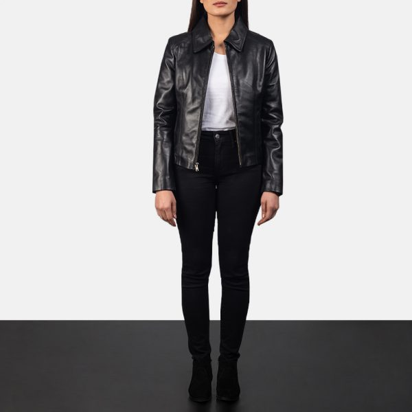 new Colette Black Leather Jacket for Women
