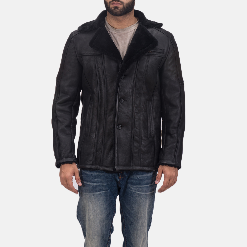 Furcliff Double Face Shearling Leather Coat for Men