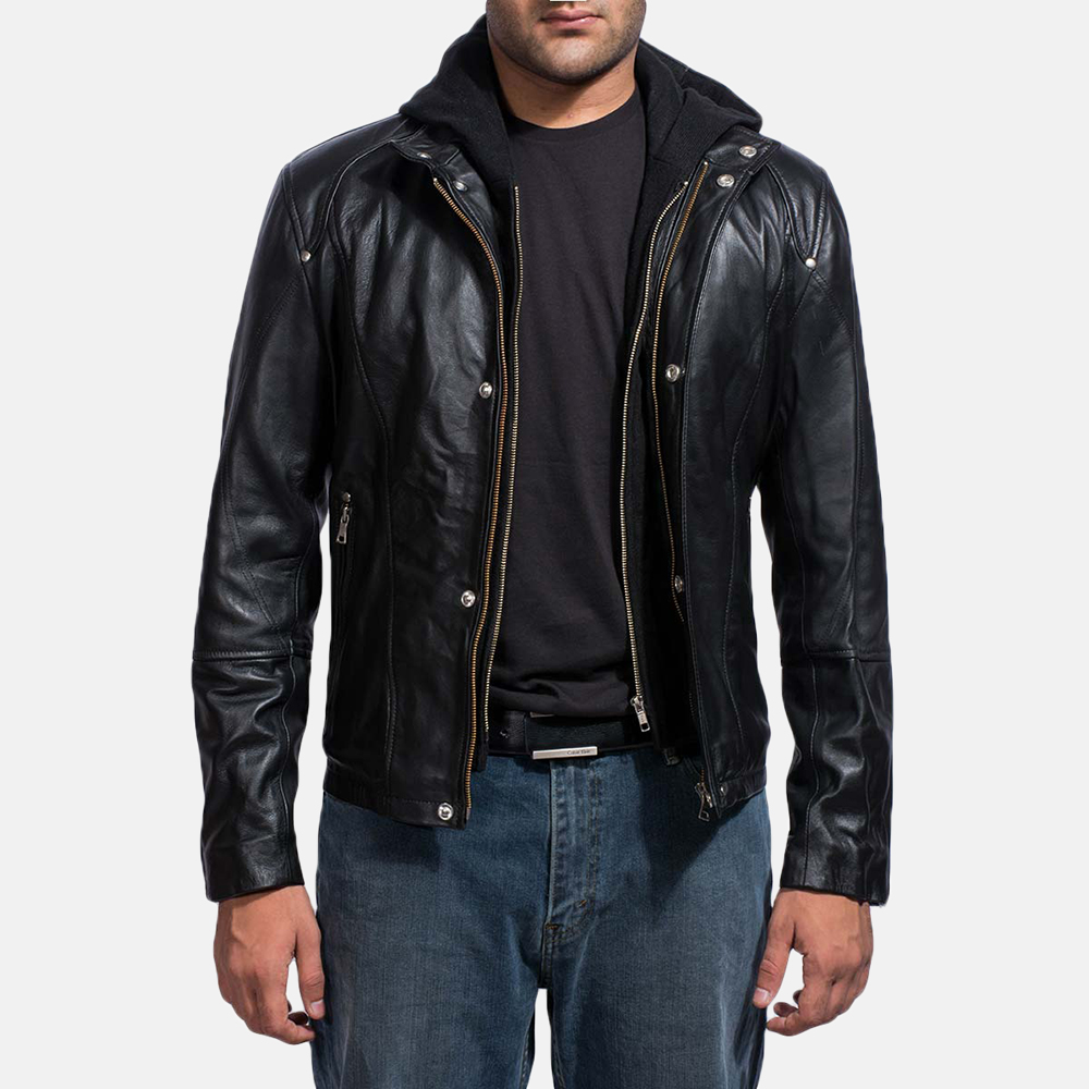 Highschool Black Leather Jacket for Men