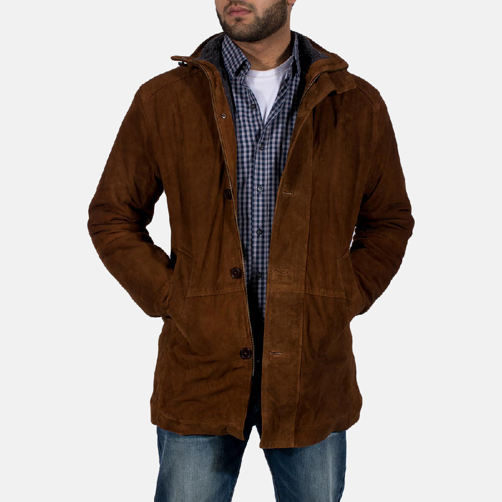 Sheriff Brown Suede Jacket for Men