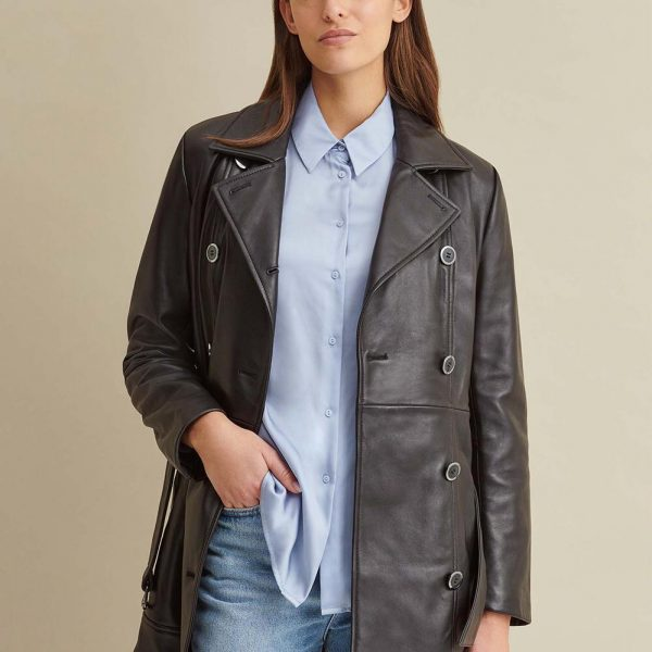 Thinsulate Leather Trench for Women