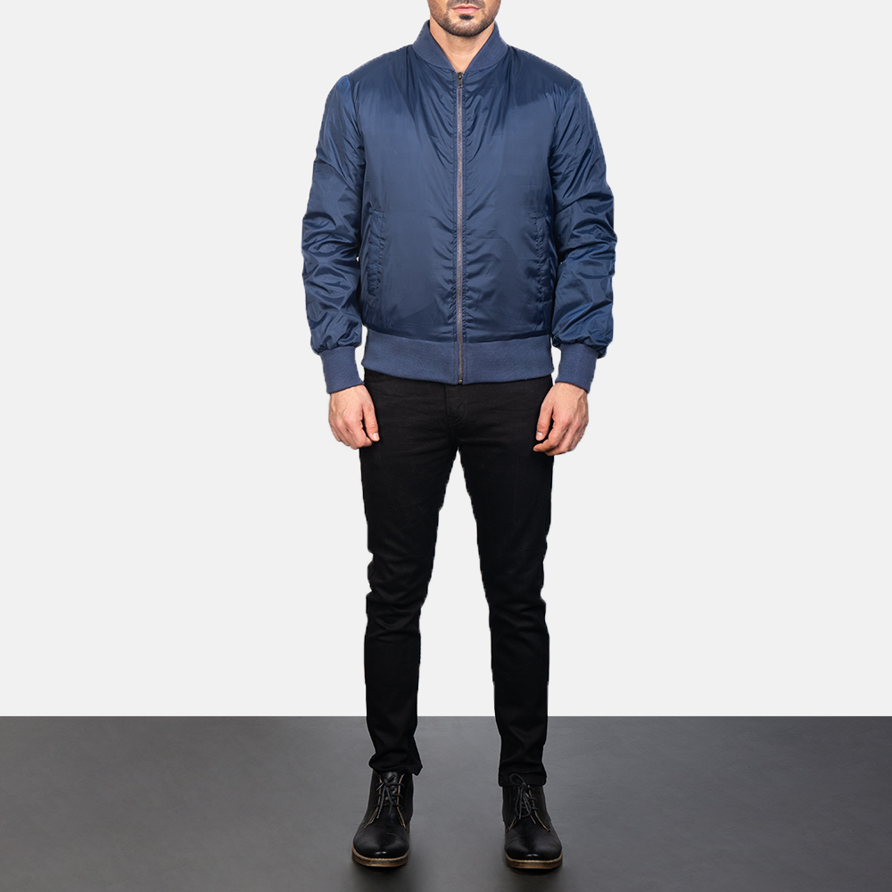 Zack Blue Bomber Jacket for Men