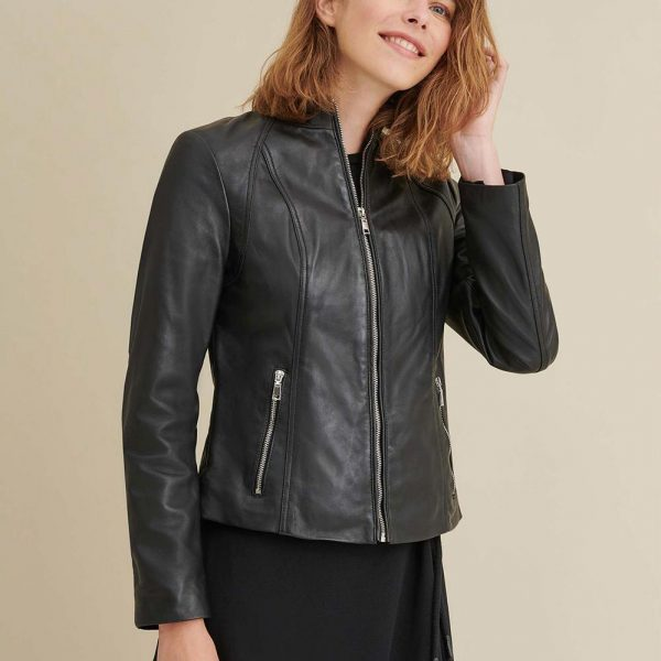 best Black Leather Scuba Jacket for Womens
