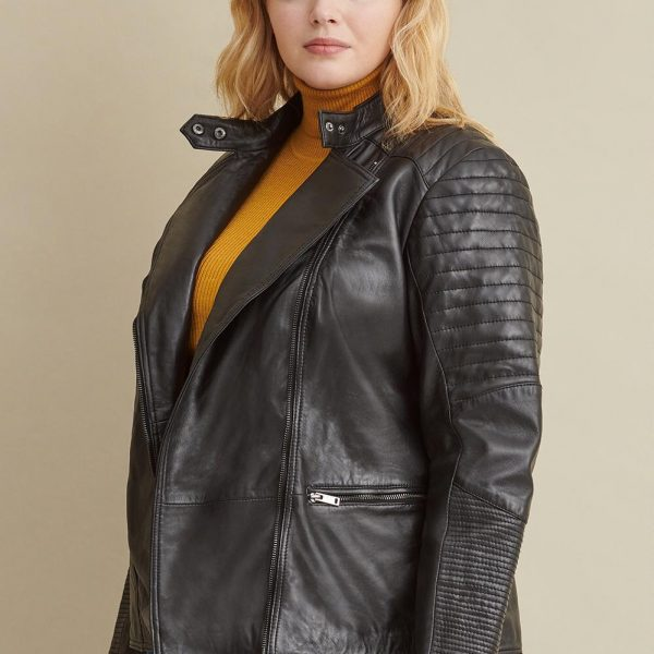 best Black Quilted Leather Jacket for Women