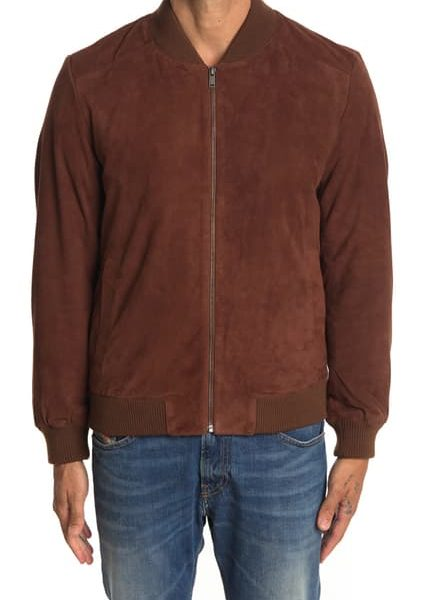 best Black Suede Bomber Jacket for Men