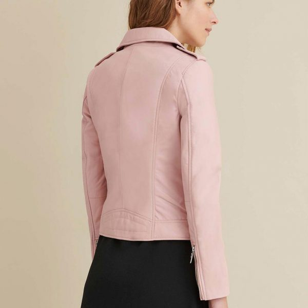best Blush Asymmetrical Leather Jacket for Women
