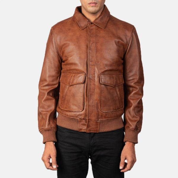 best Brown Leather Bomber Jacket for Men