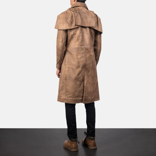 best Classic Brown Leather Duster for Men
