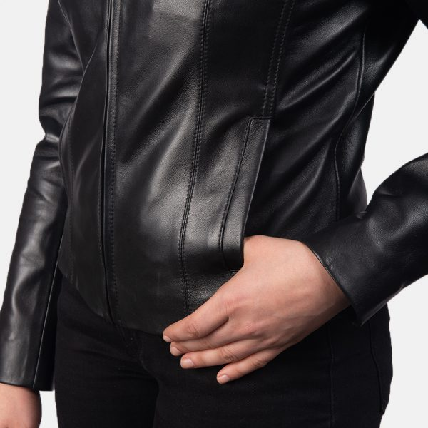 best Colette Black Leather Jacket for Women