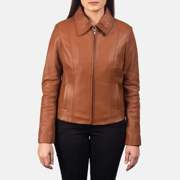 best Colette Brown Leather Jacket forWomen