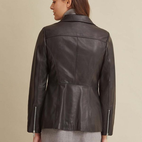 best Convertible Collar Leather Jacket for Women