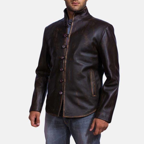 best Drakeshire Brown Leather Jacket for Men