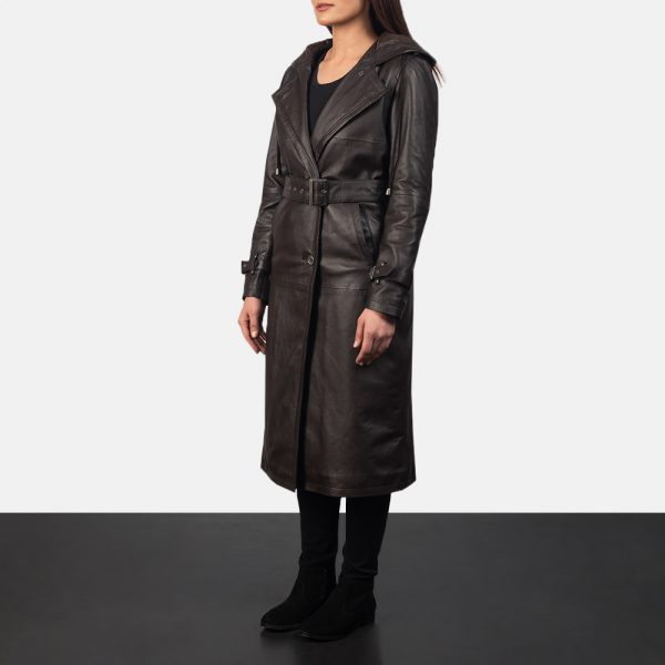 best Hooded Brown Trench Coat for Women