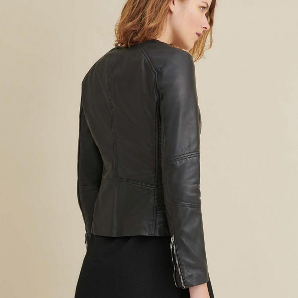 best Leather Jacket with Side Stitching for Womens
