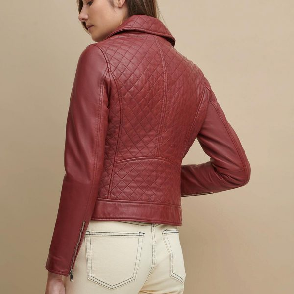 best Maroon Leather Jacket for Women