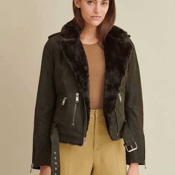 best Moto Leather Jacket with Faux Fur for Women