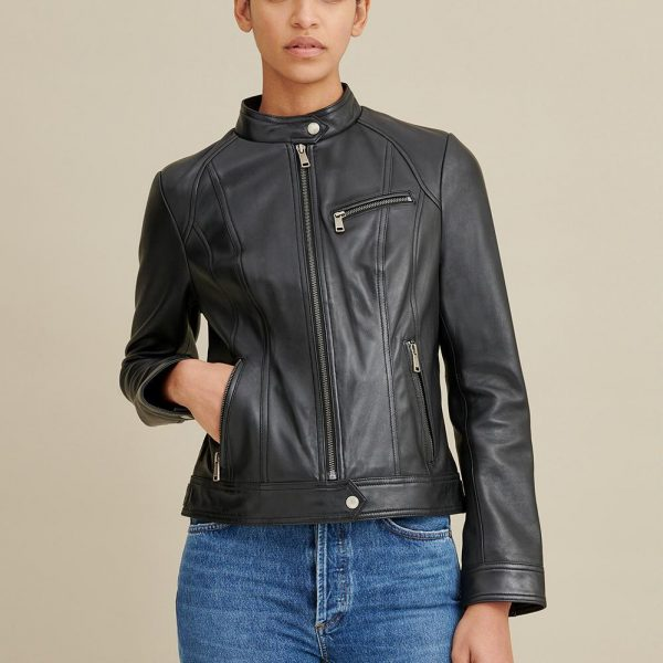 best Tab Collar Leather Jacket for Women