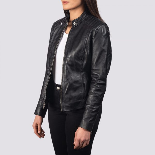 bests Black Leather Biker Jacket For Women