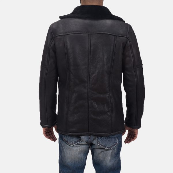 latest Furcliff Double Face Shearling Leather Coat for Men