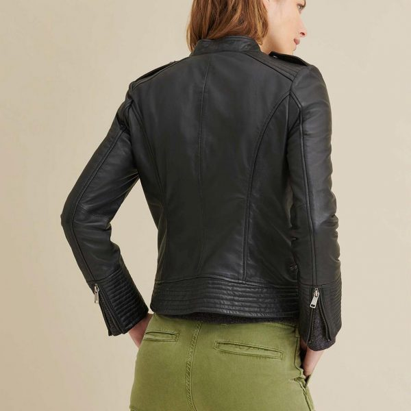 new Asymmetrical Leather Jacket for Women
