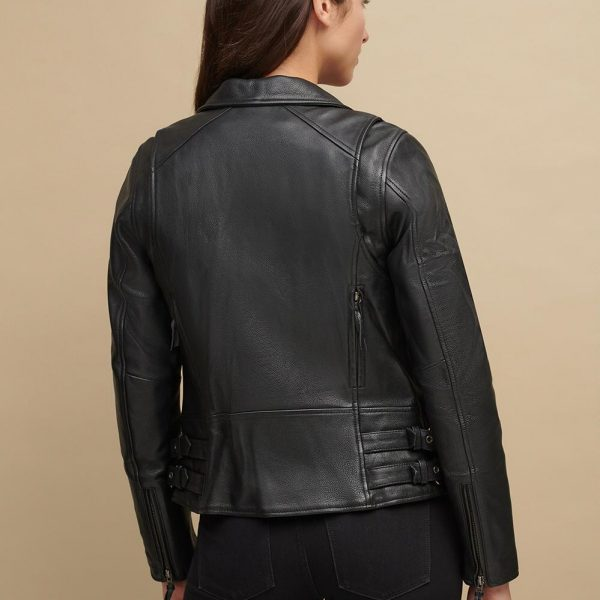 new Black Jacket With Adjustable Side for Womens