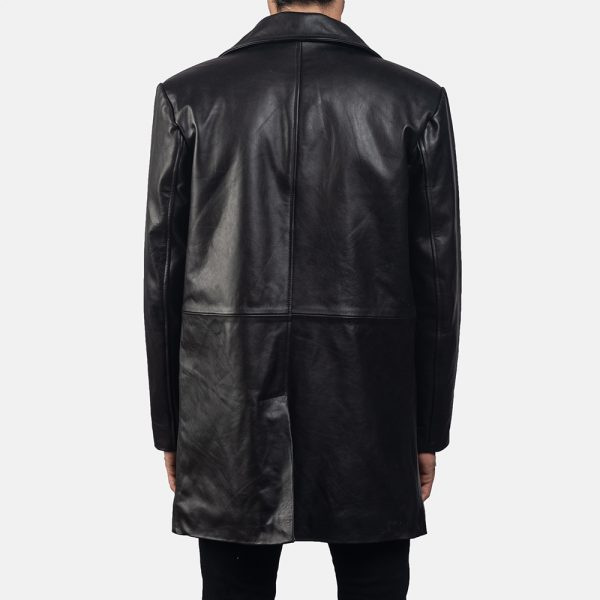 new Classmith Black Leather Coat for Men