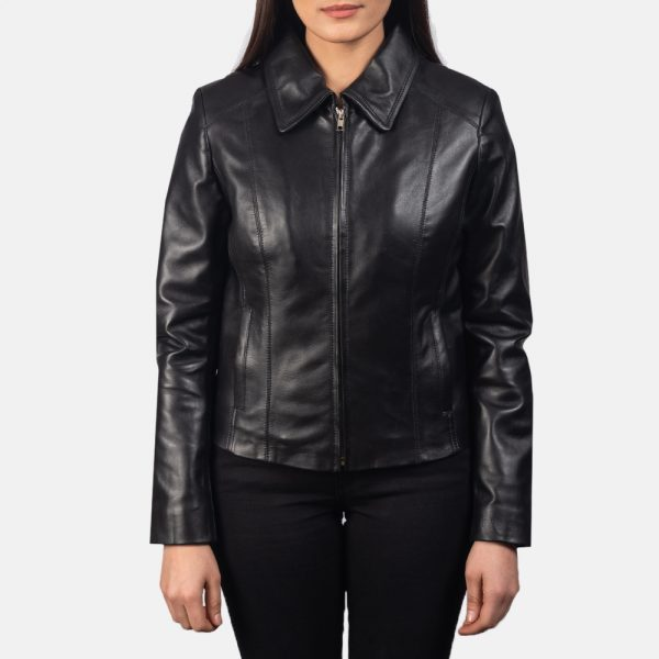 Colette Black Leather Jacket for Women