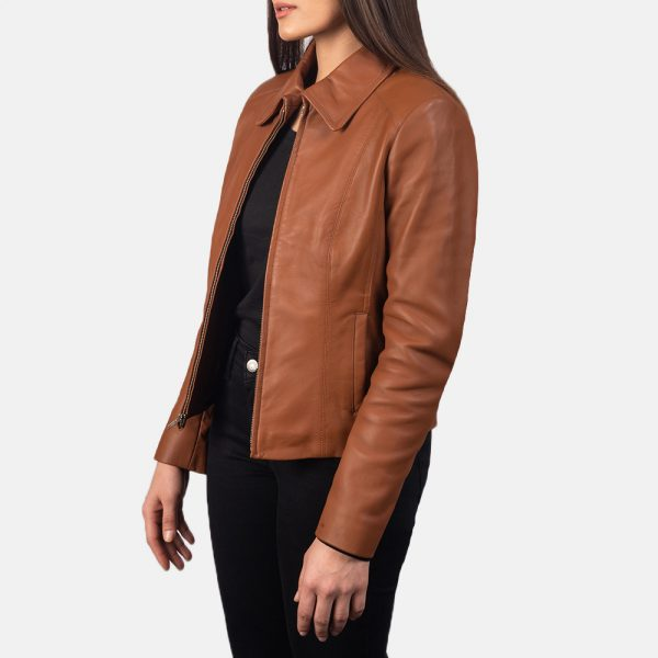 new Colette Brown Leather Jacket forWomen