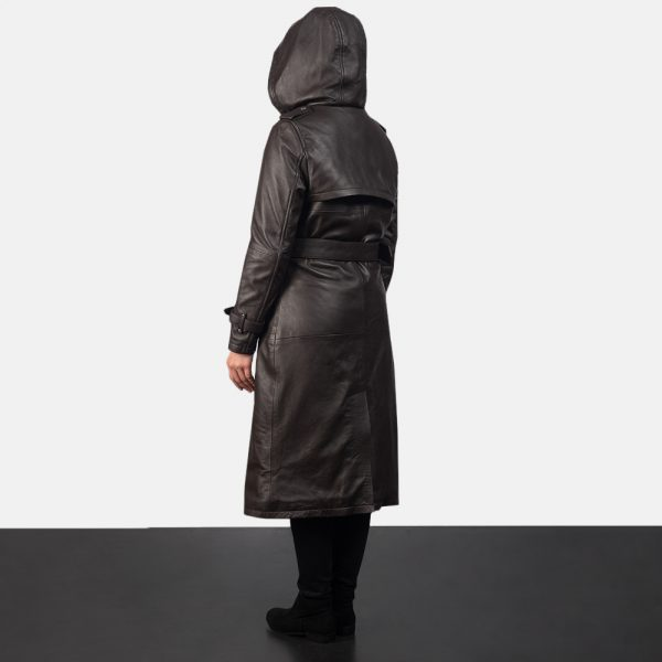 new Hooded Brown Trench Coat for Women