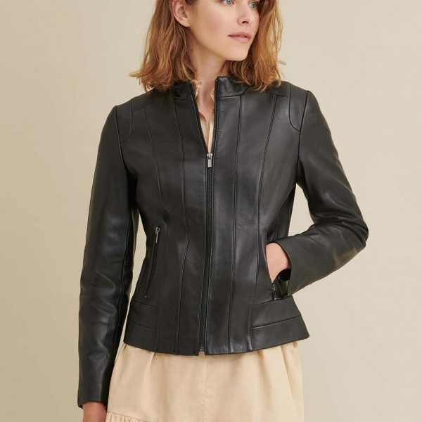 new Leather Scuba Jacket Coat for Women