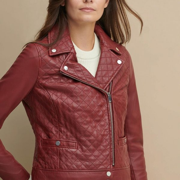 new Maroon Leather Jacket for Women