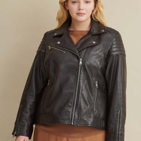 new Plus Size Leather Jacket for Women