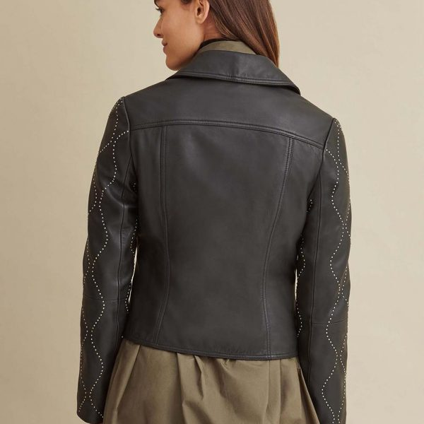 new Roxy Studded Leather Jacket for Women