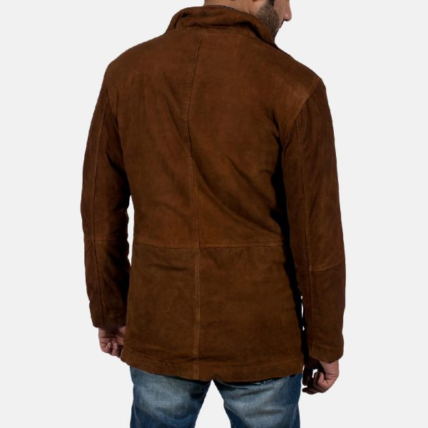 new Sheriff Brown Suede Jacket for Men