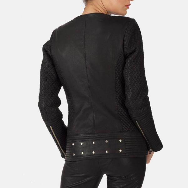 new Studded Black Leather Jacket for Women