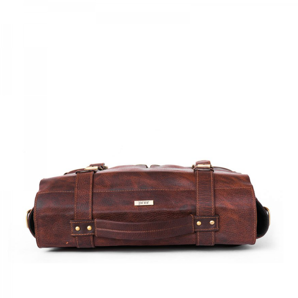 Brown Maximas Leather Laptop Sleeve and Bag