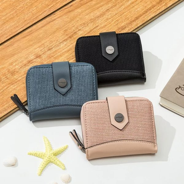 Multifunction Short Wallet Leather Coin ZipperMultifunction Short Wallet Leather Coin Zipper